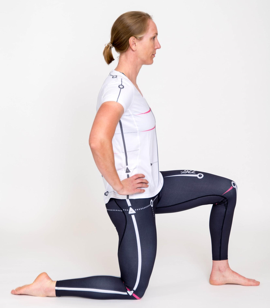Hip flexor stretch - Tuck pelvis under to focus on hip attachment