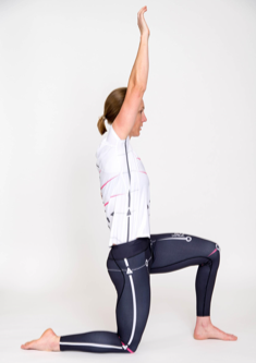 Hip flexor stretch - Stretching up to focus on spinal attachment